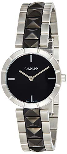 Calvin Klein Damen Analog Quarz Uhr mit Edelstahl Armband K5T33C41