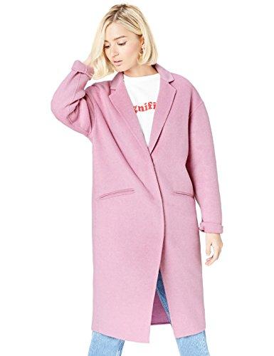 find. Mantel Damen aus leichtem Wollmix mit Oversized-Design, Rosa (Pink), 38 (Herstellergröße: Medium)