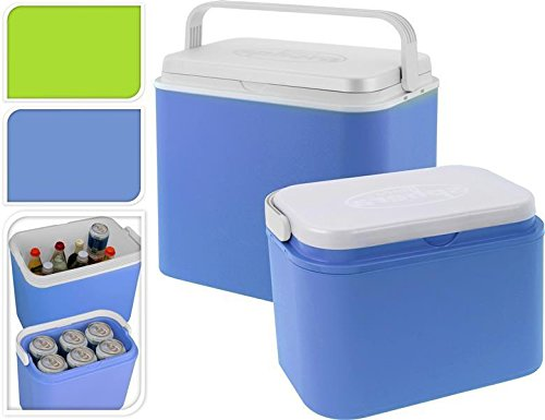 Unbekannt Ice Box Lot de 10 L/24 l avec Couvercle et poignée de Transport Bleu