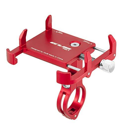 GUB PRO3 Universal Bike Fahrrad Motorrad Halterung für Handy, Smartphone, Navi usw. Rot