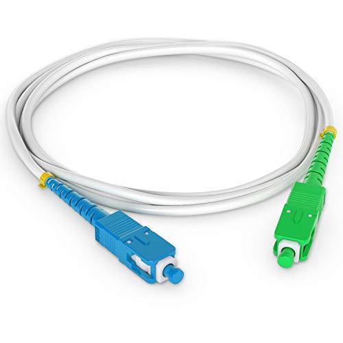 Octofibre - Cable de fibra óptica Freebox (2 m, reforzado, con protección Kevlar y alargador de fibra óptica, SC a UPC
