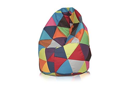 Pouf Goutte Multicolore Similicuir L 70 x 110 cm