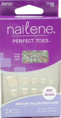 Nailene Perfect Toes Short Length Includes Nail Art 77460