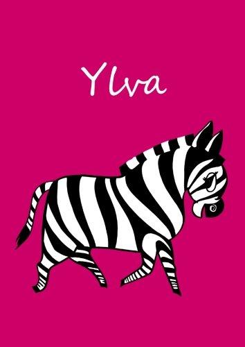 personalisiertes Malbuch / Notizbuch / Tagebuch - Ylva: Zebra - A4 - blanko