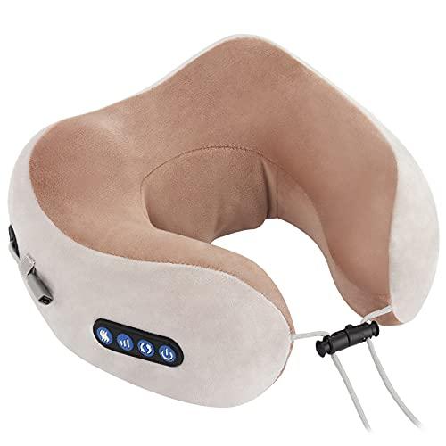 Furado Elektrische Nackenmassagegerät Massagekissen, Nackenmassagegerät Nackenmassagegerät für Nackenmuskel Schmerzlinderung U-förmiges Massagekissen für Zuhause, Auto und Büro