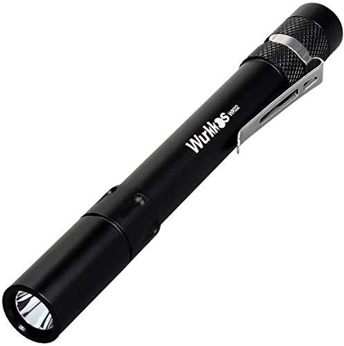 Wurkkos WK02 LED Pen Light - 5mm 300 Lumen mini taschenlampe (ideal für Einsatz im Krankenhaus, Altenheim, Arztpraxis,Handwerker)6000K Stift Licht,Schwarz