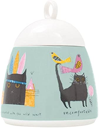 Preisvergleich für Jane Ormes dxj57as 13x 10x 10cm Keramik Katze Zuckerdose, Mehrfarbig