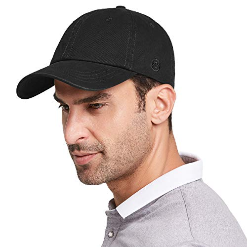 Gisdanchz Gorras De Hombre Beisbol Visera Gorra Hombre Gorras Beisbol Verano Deporte Washed Plain Baseball Cap For Men Adjustable Dad Hat Low Profile Polo Hats For Man Negro