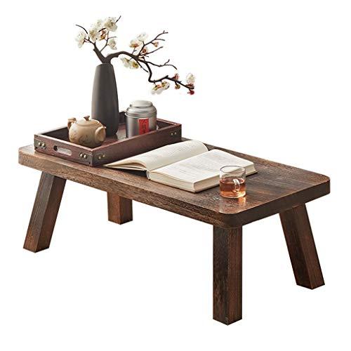 Mesa De Té con Ventana Salediza Mesa Baja Cuadrada Mesa De Tatami Japonesa Mesa Baja En Dormitorio Mesa De Meditación (Color : Brown, Size : 40 * 30 * 20cm)