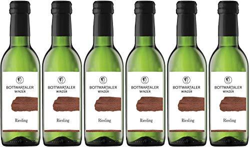6x Riesling halbtrocken 2018 - Bottwartaler Winzer eG, Württemberg - Weißwein