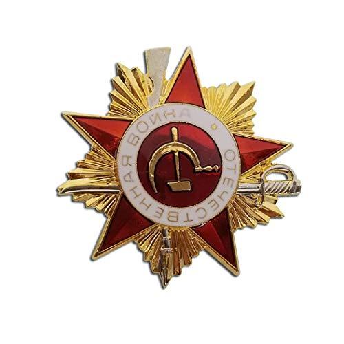 Kocreat Segunda Guerra Mundial Gran Guerra Patriótica 1 Clase Mérito Soviético Ejército Rojo Soviético Hoz y Martillo Comunista URSS Honor Insignia Militar Medalla REPLICA