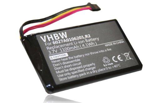 vhbw Akku passend für Tomtom GO 5000, 5100, 6000, 9000 GPS Navigation Navi (1100mAh, 3,7V, Li-Ion)