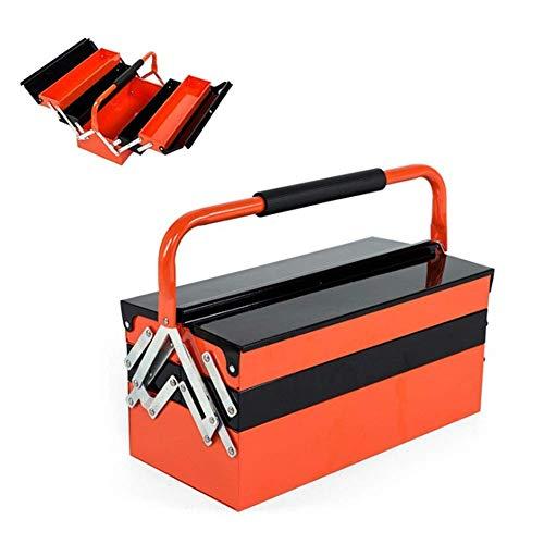 Folding Eisen Tool Box Portable Hardware Haushalt Wartung Werkzeugkoffer mit Tragegriff Abschließbare, A (Größe: A) HAOSHUAI (Size : B)