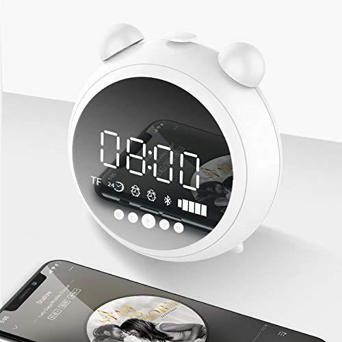 L-yxing Sonido [Bluetooth 5.0] Altavoz de Bluetooth inalámbrico portátil Doble Despertador LED Pantalla LED FM Inalámbrico TF Tarjeta Altavoz con micrófono Buena Apariencia