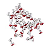 FLAMEER 25 Stücke Fliegen Binden Perlen Haken Streamer Nymphe Kopf Perle Messing Dumbell Augen 2 Größe - 4,8 mm