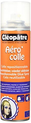 Cléopâtre - ACR250 - Aero'Colle - Spray de Colle repositionnable - 250 ml