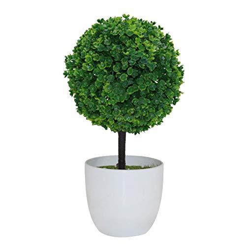 Huhuswwbin Künstliche Pflanzen, Kunstpflanze, Formschnitt-Form, Bonsai, Kunstpflanze, Dekoration, Grün