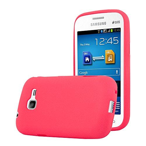 Cadorabo Funda para Samsung Galaxy Trend Lite en Frost Rojo - Cubierta Proteccíon de Silicona TPU Delgada e Flexible con Antichoque - Gel Case Cover Carcasa Ligera