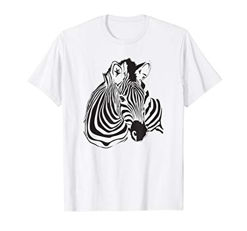 Zebra Porträt Shirt Gestreiftes Wildpferd - Zebra T-Shirt