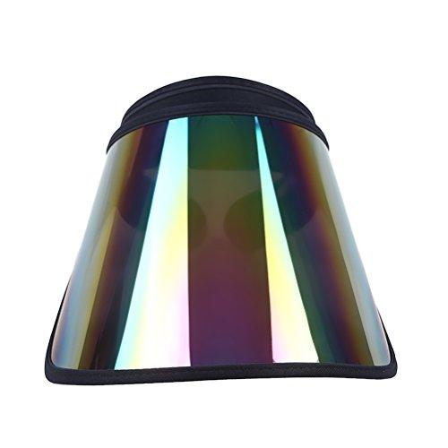 LIOOBO UV-Schutz Sonnenblende Cap Poker Visor Hat für Wandern Golf Tennis Outdoor Angeln