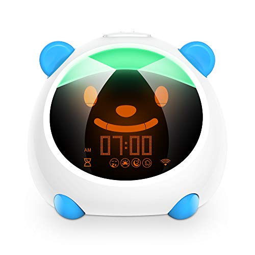 Kids Alarm Clock, WiFi Smart Time to Wake Alarm Clock for Kids, Children's Trainer, Nap Timer, Night Light Sleep Sounds Machine, Compatible with Alexa & Google Home (Smart Version)