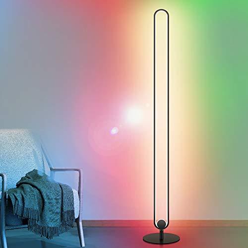 Ydshyth Led Stehlampe Dekoration Dimmbar Stehleuchte Mit RGB Und Fernbedienung, Modern Farbwechsel Standlampe Für Wohnzimmer Schlafzimmer, 20w