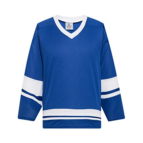 EALER H400 Series Blank Ice Hockey Practice Jersey League Jersey Team Jersey Royal/White