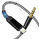 [Certificado MFi] Cable AUX para Coche para iPhone, Cable de Audio Cable Auxiliar para Audio Lightning de 3,5 mm para iPhone 12/12 Pro / 11/ 7/7P/ 8/8P /X / XS / XR Estéreos de Coche, Altavoces -1M