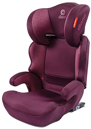 Diono Everett NXT Rigid Latch, Belt Positioning Booster Seat, High Back Booster, Lightweight Slim Fit Design, 8 Years 1 Booster Seat, Purple