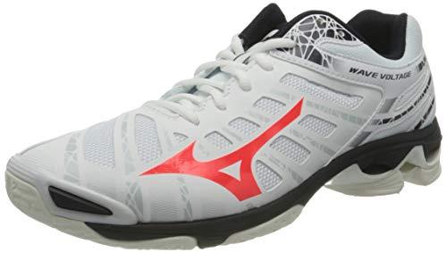 Mizuno Wave Voltage, Zapatillas de vóleibol Mujer, White/Fierycoral2/Iceg, 44