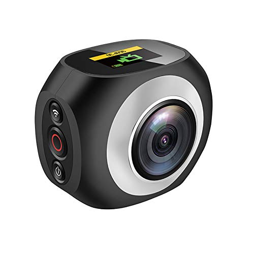 LuckyZA 4K 360 Grados cámara acción panorámica WiFi 1080P 16MP Doble Lente...