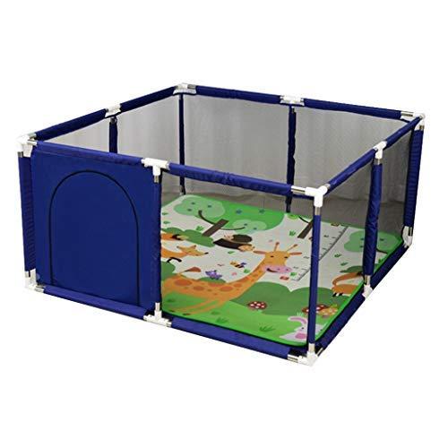 no brand Aire de Jeux intérieure Playpen Parcs for Enfants Clôture de sécurité for Enfants Ménage Portable avec Crawling Mat Playpen