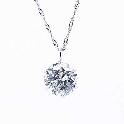 【KASHIMA】鑑定書付 プラチナ900 0.7ct ダイヤモンド ペンダント Pt850スクリューチェーン