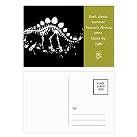 ドラゴン草の巨大なステゴサウルス 詩のポストカードセットサンクスカード郵送側20個
