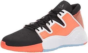 adidas Men's Pro Vision Basketball Shoe, Black/White/hi-res Coral, 18 M US