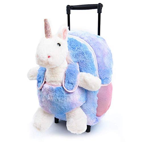 Funday Unicorn Kids Backpack with Removable Wheel Backpack for Girls and Boys