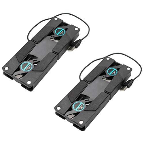 OSALADI 2 Piezas de Almohadilla de Refrigeración para Ordenador Portátil para Juegos Ventilador de Refrigeración de Pie Plegable Portátil con Soporte Ventilado Refrigerador USB para