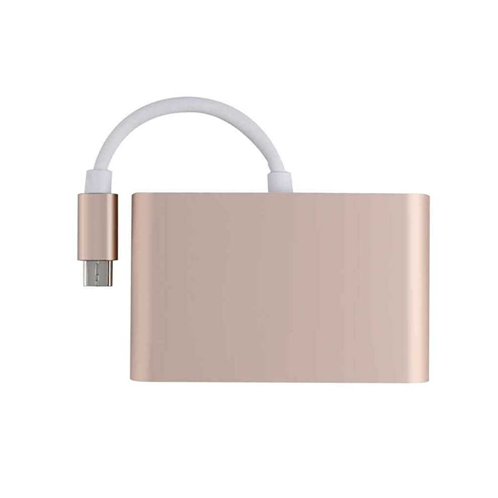 3-in-1 USB-C to VGA USB 3.0 Type-C Female Adapter Charging Video Converter for MacBook Projector TV by dianpo