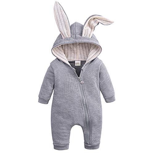 MSDMSASD – Pelele de Manga Larga con Capucha para recién Nacidos, niños, niñas, otoño, Invierno, con…