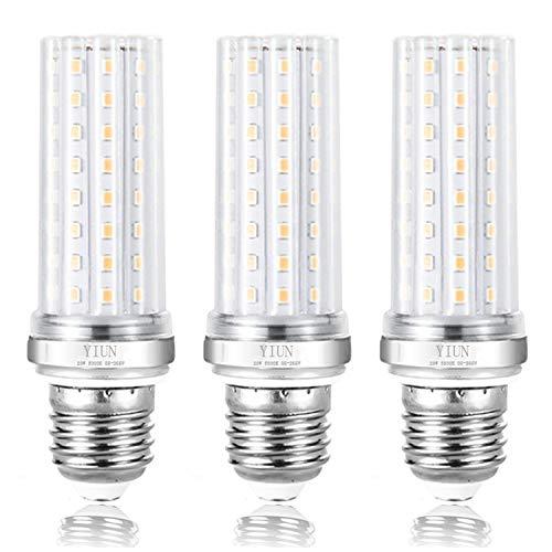 YIUN E27 LED candela lampadine, da 20W a LED candelabri lampadine da 150 Watt equivalente, 1800LM, bianco caldo 3000K, Non dimmerabile lampada a LED, Confezione da 3