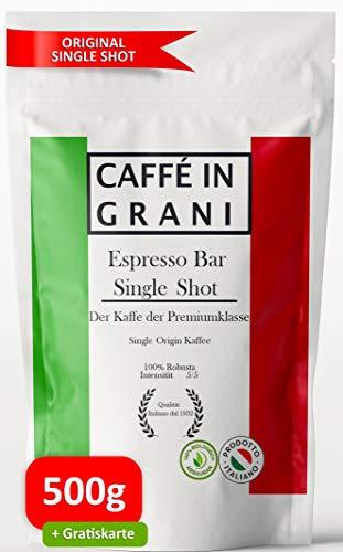 NEU Caffé in Grani – Espresso Bar single shot   ganze Kaffeebohnen   starker, intensiver Kaffee mit schokoladiger Note   Barista-Qualität aus italien