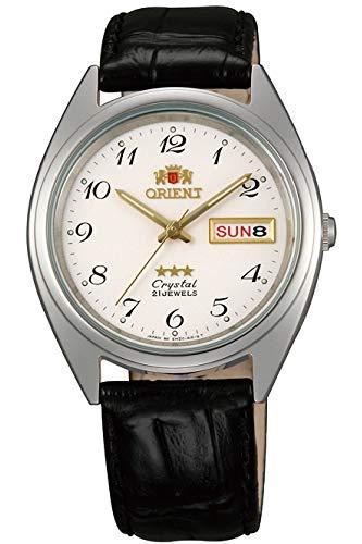 Orient Unisex Erwachsene Analog Automatik Uhr mit Leder Armband FAB0000LW9