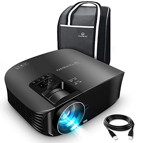 """VANKYO Leisure 510 HD Projector with 4500 Lux, Video Projector with 230"""" Projection Size, Support 1080P HDMI VGA AV USB with HDMI Cable and Carrying Bag"""