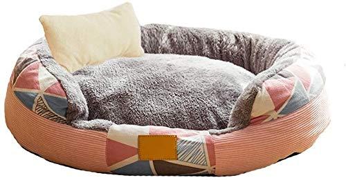 UIZSDIUZ Haustierbett Hundebett Haustier, warm und gemütlich, Hund Bolster Pet Bed & Sofa, for kleine und mittlere Hunde, maschinenwaschbar Katzenbett (Color : Style3, Size : L(60×48cm))