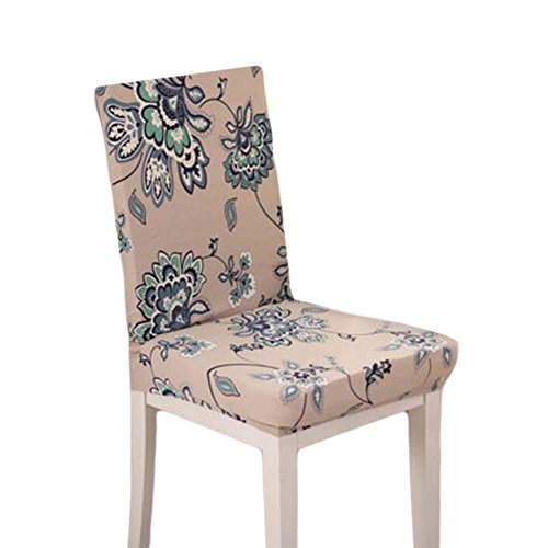 2 Pieces Stretch Chair Slipcover Fit Housse de chaise Floral Simple Cloth Slipcover