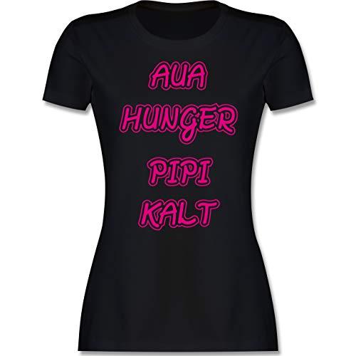 Typisch Frauen - Aua, Hunger, PIPI, Kalt - M - Schwarz - Geschenk - L191 - Tailliertes Tshirt für Damen und Frauen T-Shirt