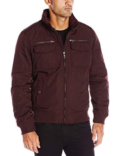 Tommy Hilfiger Men's Performance Bomber Jacket (Regular and Big & Tall Sizes), Port, Large