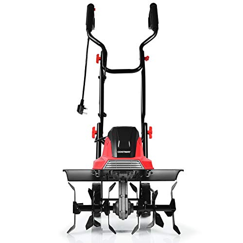 COSTWAY 1200W/1500W Electric Tiller, Garden Soil Cultivator Rotavator with...