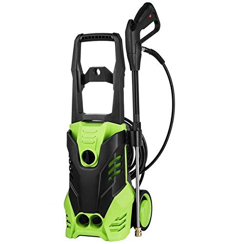 Homdox 3000PSI Presurre Washer, 1800W Electric Pressure Washer, 1.80GPM High Power Washer Cleaner Machine W/ 5 Nozzles,Total Stop System, Rolling Wheels