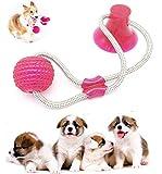 Nifogo Pet Molar Bite Toy,Juguete Multifuncional para mordedura de Molar Juguete con Ventosa Juguetes para morder para Perros Juguetes para Perros Molar para Mascotas (Rojo,1 pcs)